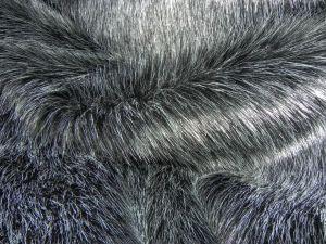 Umělá kožešina metráž, černý melír, 36mm, š. 148 cm