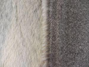 umělá kožešina metráž, oděvní, šedý melír, š. 147