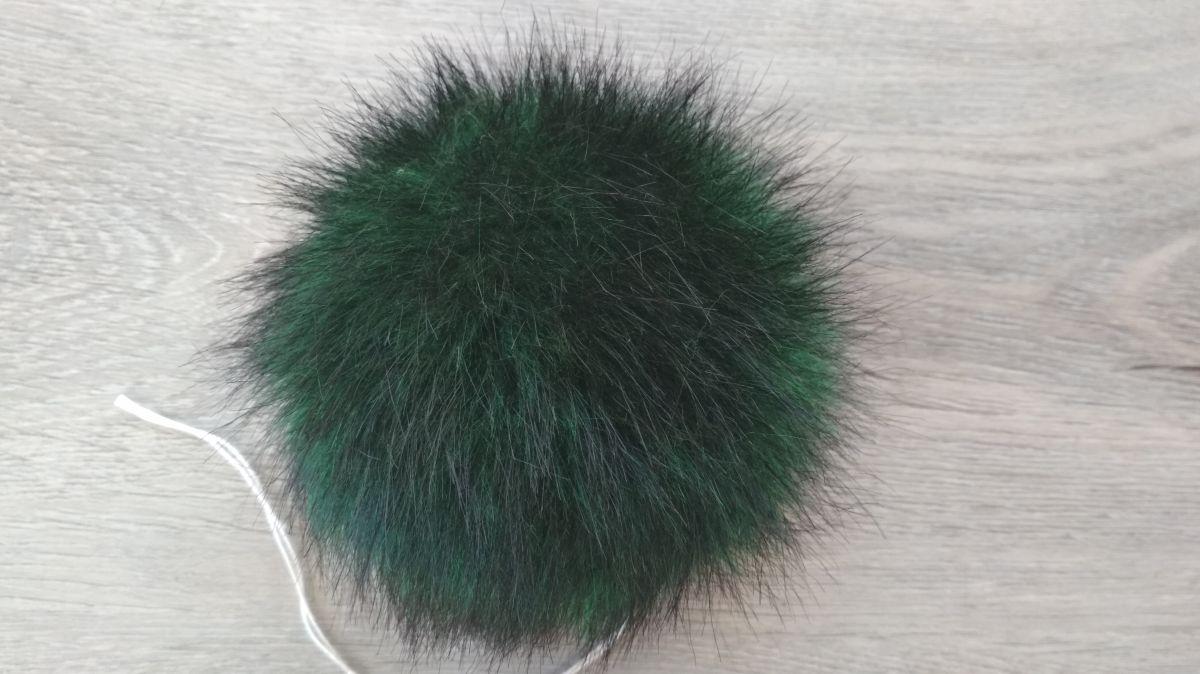 kožešinová bambule, zelená, 36mm