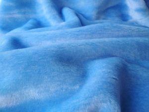 metráž kožešin, plyš modrý