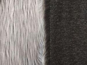 šedá kožešina, šedý grafit, 40mm vlas