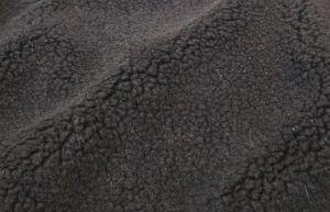 Umělá kožešina metráž, VLNĚNÝ BERÁNEK, černá, vlas 6 mm, š. 143