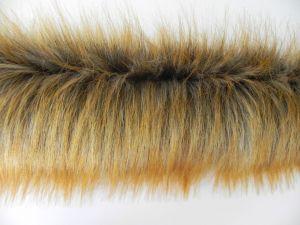 Kožešinový lem z luxusní kožešiny, rezavá liška, 56mm vlas