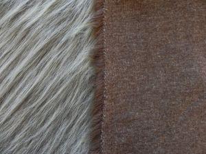Umělá kožešina,  hnědý melír, 90mm, š. 148cm