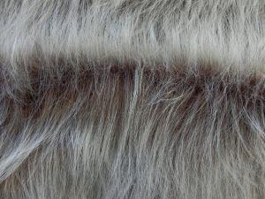 Umělá kožešina, hnědý melír, 90 mm vlas, š. 148cm