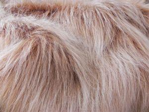Umělá kožešina, metráž, béžová, 90mm vlas, š. 145cm