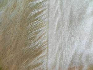 Umělá kožešina metráž, LAMA, bílá, 70mm vlas, š. 147cm