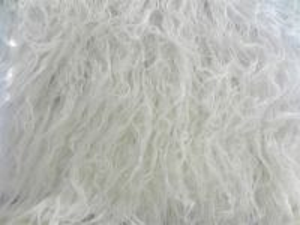 Umělá kožešina metráž, bílá, LAMA, vlas 70 mm, š. 147cm