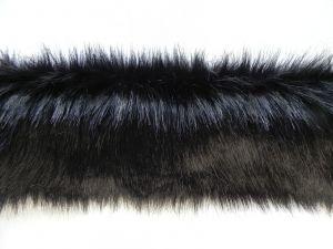 Kožešinový lem, černý, 25mm vlas, š. 147cm