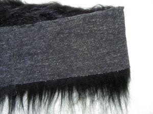 Kožešinový lem, černý, 90mm vlas, š. 147cm
