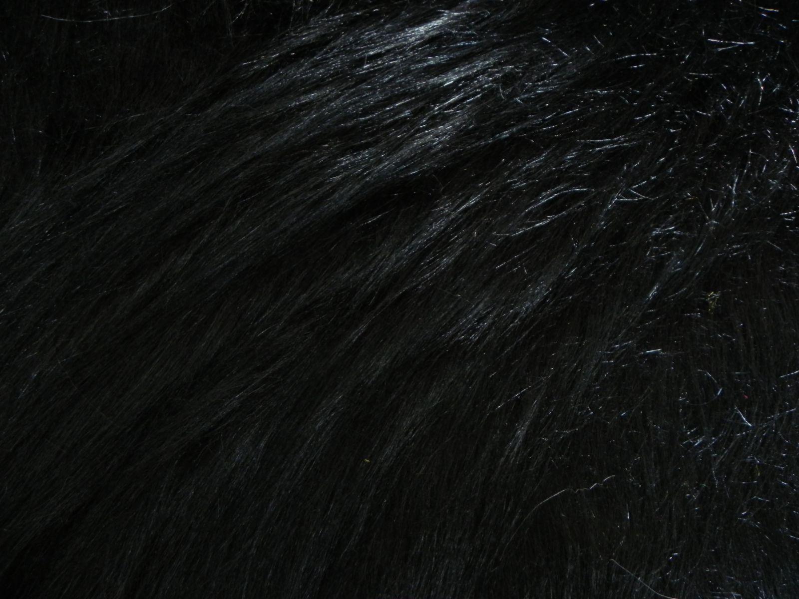 Umělá kožešina metráž, černá, 90mm vlas, š. 147cm