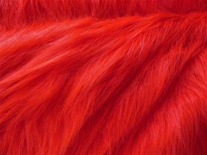 Umělá kožešina, červená, 90mm vlas