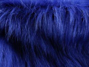 Umělá kožešina metráž, kobaltová modř, 90mm, š. 144cm