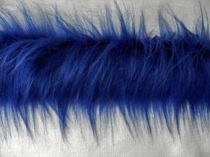 Kožešinový lem z kožešiny kobaltová modř, 90mm, š. 144cm