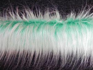 Kožešinový lem, zelený, 90mm vlas