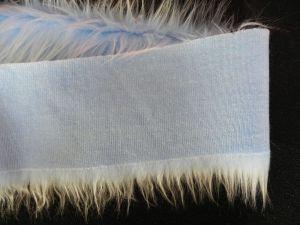Kožešinový lem, modrý, 45mm vlas, š. 149cm
