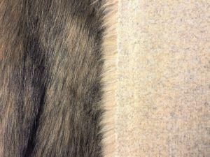 Umělá kožešina metráž, béžová, béžová liška, 50mm, š. 147cm