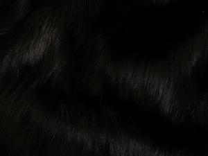 Umělá kožešina metráž, černá, 50mm vlas, š. 145cm