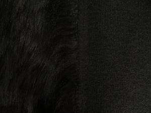 Umělá kožešina metráž, oděvní, černá, vlas 50 mm, š. 145cm (cena je za 0,1 bm) evropský výrobce