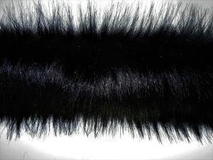 Kožešinový lem, černý, 50mm, š. 145cm