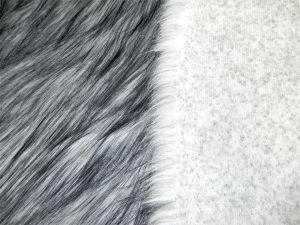 Umělá kožešina metráž, černobílá POLÁRNÍ LIŠKA, 50mm, š. 145cm
