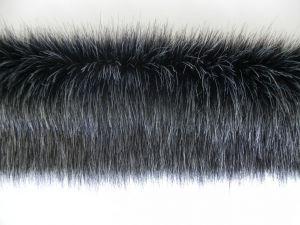 Kožešinový lem, černý melír, 36mm, š. 148 cm
