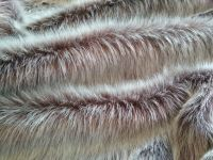 Umělá kožešina metráž, oděvní, hnědý melír, vlas 36mm, š. 144cm