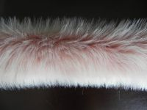 Kožešinový lem z umělé kožešiny perlet'ové, 36mm vlas, š. 149cm