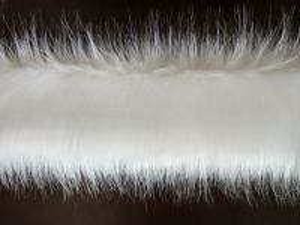 Kožešinový lem z umělé kožešiny, sněhově bílá, 50mm, š.147cm