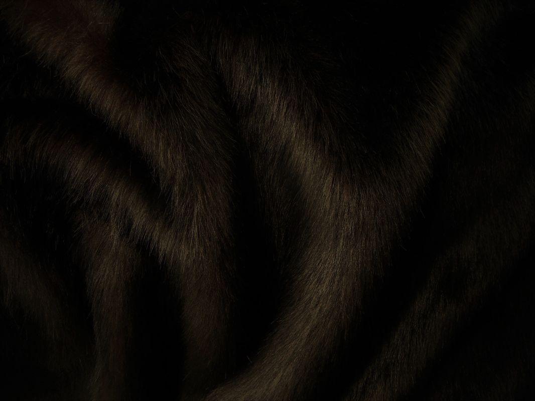 Umělá kožešina metráž, hnědá, TMAVÝ KAŠTÁN, 36mm vlas, š. 139cm