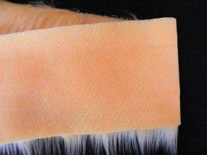 Kožešinový lem, okrová, 45mm vlas, š. 149cm