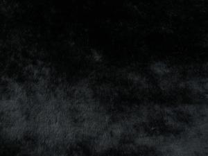 Umělá kožešina metráž, plyš, černý, vlas 9 mm, š. 150cm