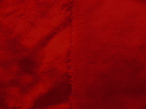 Umělá kožešina, metráž, plyš, červený, 9mm vlas, š.146cm