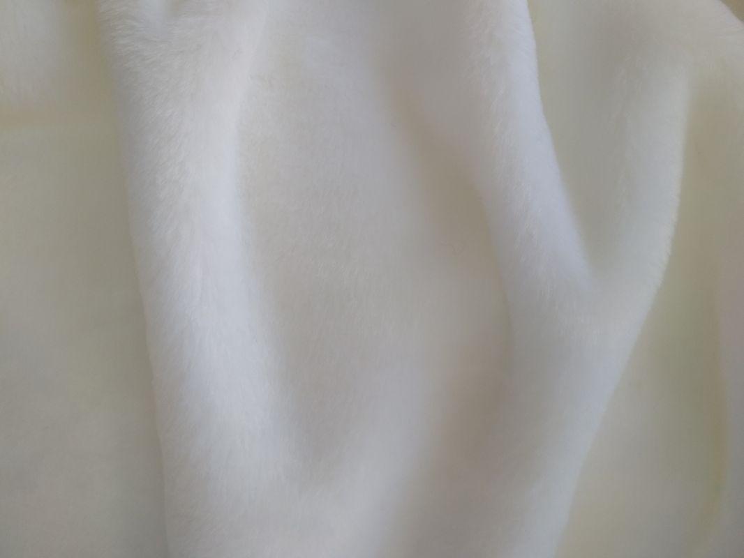 Umělá kožešina, metráž, plyš, sněhově bílý, 9mm