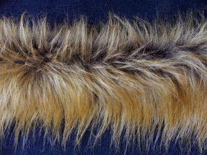 Kožešinový lem z rezavé kožešiny, 90 mm vlas