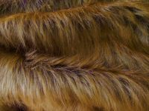 Umělá kožešina metráž, rezavá, vlas 90 mm, š. 146cm