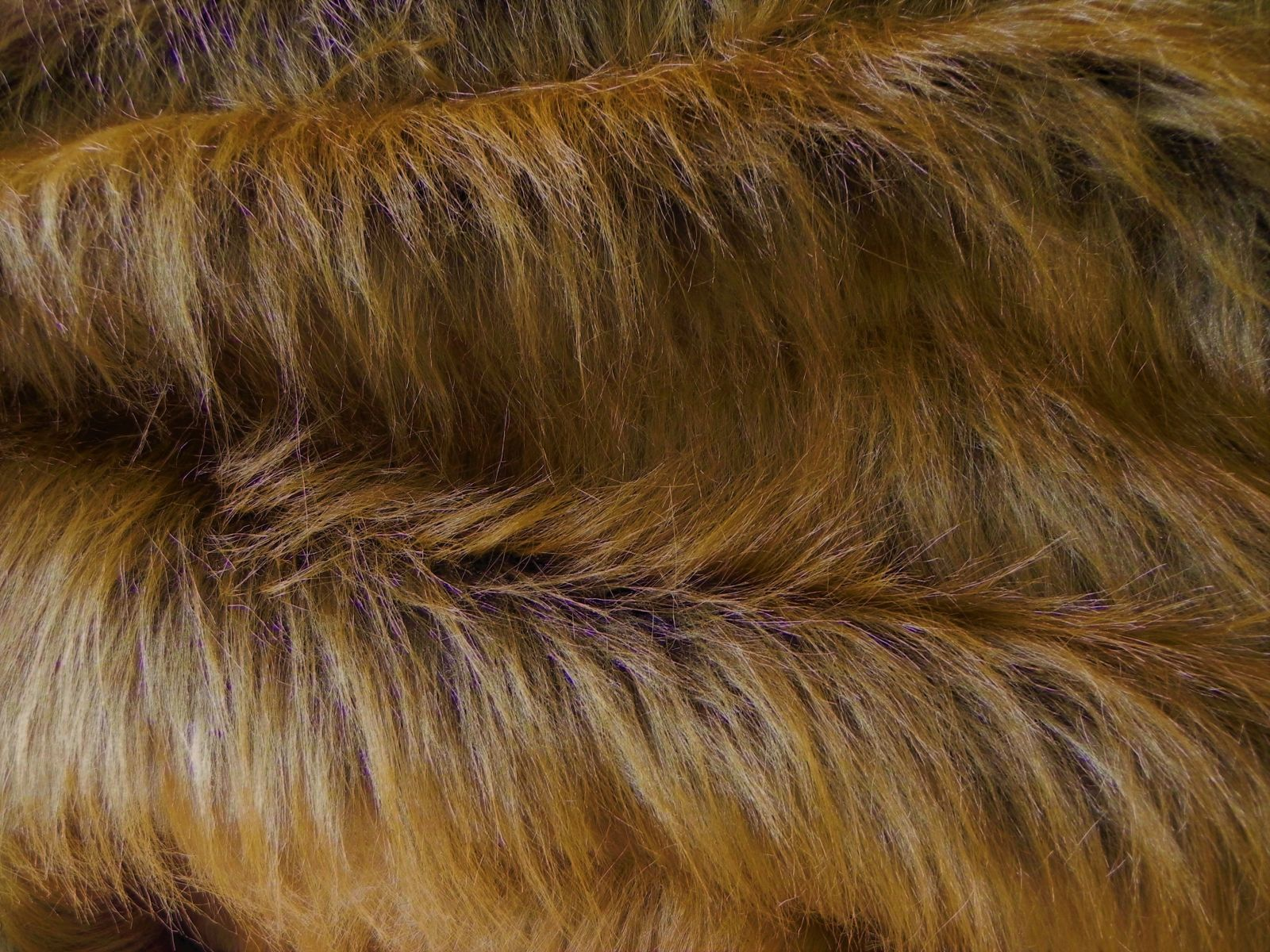 Umělá kožešina, rezavá, 90mm vlas. š.146cm