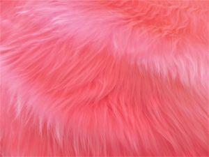 Umělá kožešina metráž, růžová, vlas 45 mm, š. 149cm