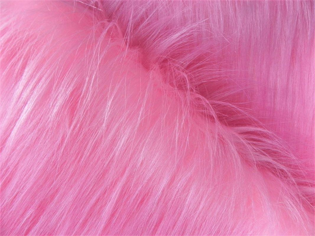 Umělá kožešina metráž, růžová, 90mm vlas, š. 147cm
