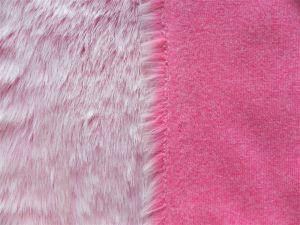 Umělá kožešina metráž, růžový melír, 25mm vlas, š. 147cm