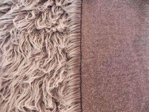 Umělá kožešina, šedo hnědá, LAMA, 45mm vlas, š.150cm