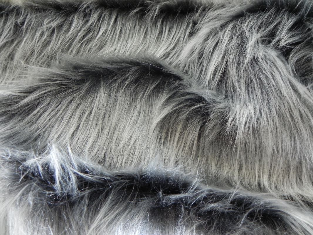 Umělá kožešina metráž, šedý grafit, 40mm vlas