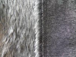 Umělá kožešina, metráž, šedý melír, 25mm vlas, š.146cm