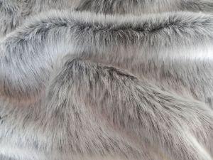 Umělá kožešina metráž, šedý melír, 25mm vlas, š. 147cm