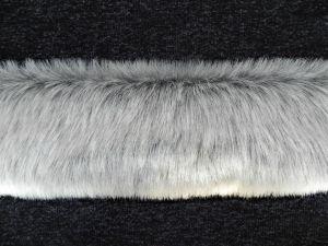Kožešinový lem, šedý melír, 25mm vlas, š. 147cm