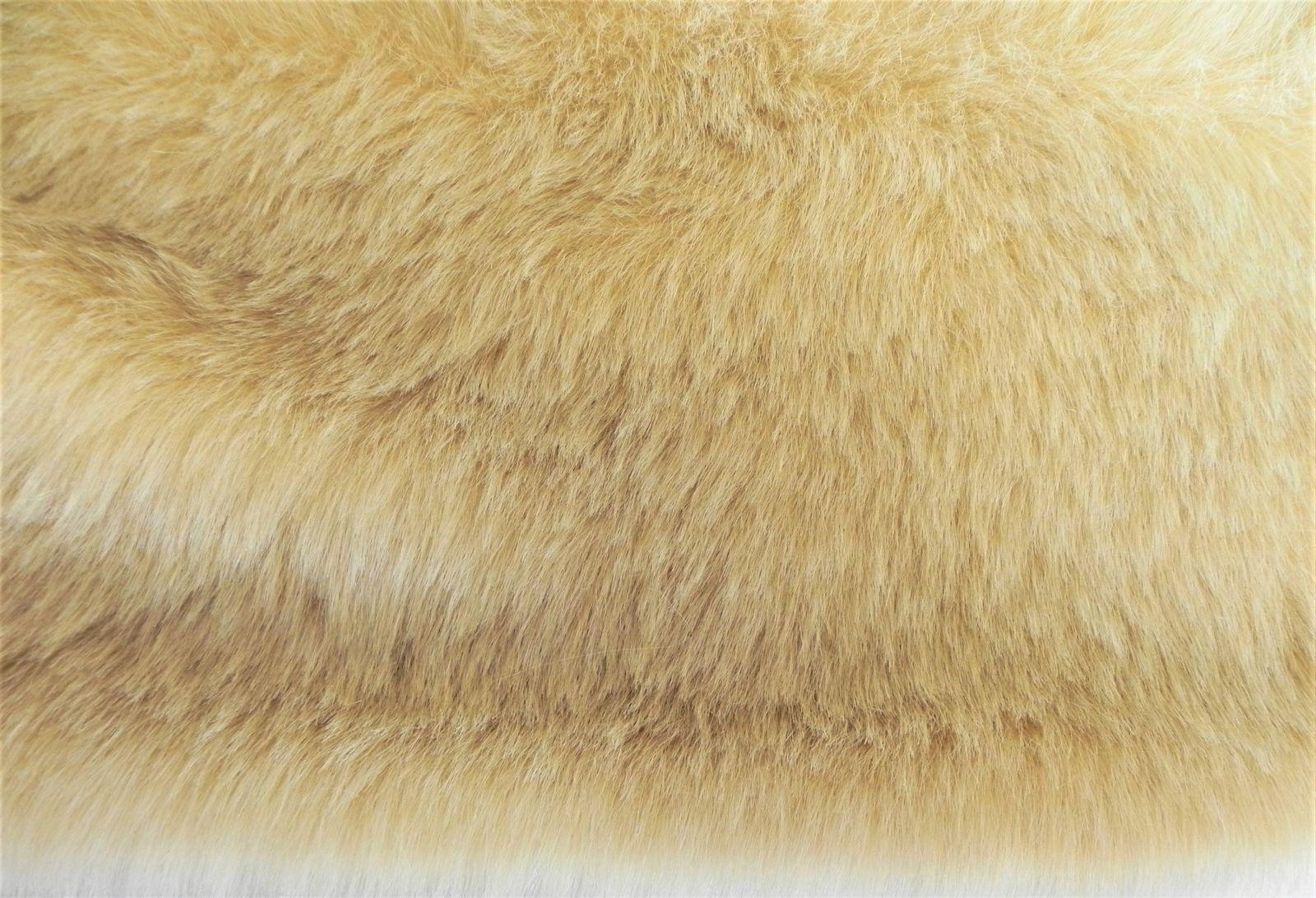 Umělá kožešina, světle plavá, 25mm vlas, š. 146cm