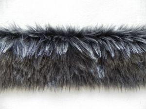 Kožešinový lem, tmavě šedý, 25mm vlas