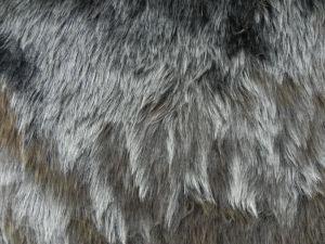Umělá kožešina, metráž, tmavě šedá, 25mm vlas, š.146cm