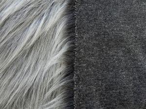 Umělá kožešina metráž, tmavě šedý melír, ANTRACIT, 90mm vlas, š. 147cm