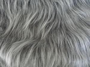 Umělá kožešina metráž, tmavě šedý melír, ANTRACIT, vlas 90 mm, š. 147cm
